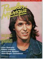 PAROLES ET MUSIQUE N° 55 En 1985 JEAN JACQUES GOLDMAN CAUSSIMON VICTOR HUGO - Musique