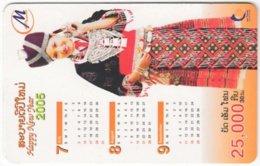 LAOS A-147 Prepaid M-Phone - People, Woman, Calendar - Used - Laos