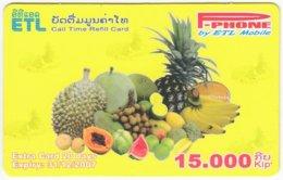 LAOS A-158 Prepaid P-Phone - Food, Fruits - Used - Laos