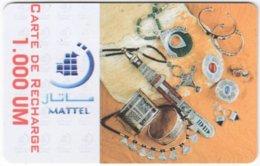 MAURITANIA A-002 Prepaid Mattel - Culture, Traditional Craft - Used - Mauritanië
