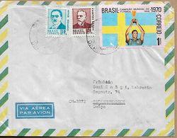 BRAZIL 1970 Cover Sent To Ostermundiigen 3 Stamps COVER USED - Brazilië