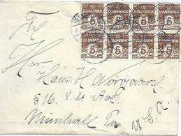 Ausland Brief  Hellerup - Munhall USA         1925 - Briefe U. Dokumente