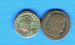 Romaine  2  Pieces   Constantine  307 /337 - 7. The Christian Empire (307 AD To 363 AD)