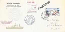 """TAAF - Lettre """"Marion-Dufresne"""" Avec N°127 Base Marret - Cachet 974 Le Port - 05/08/1988 - Briefe U. Dokumente"""