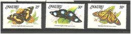 Nauru 1984 Butterflies  Mi 284-286 MNH(**) - Nauru