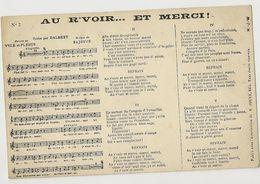 643 - Au  R'voir .... Et Merci - Créee Par Dalbert - Musique Et Musiciens
