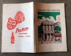 Théâtre Des Variétés -  1963 La Grosse Valse - Louis De Funès - Programmi