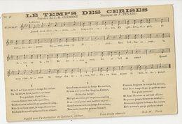 644 - Le Temps Des Cerises - Paroles De J.B. Clément Musique De A. Renard - Musique Et Musiciens