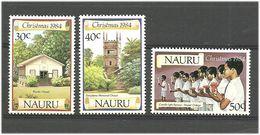 Nauru 1984 Christmas, Chapel And Church  Mi 299-301 MNH(**) - Nauru