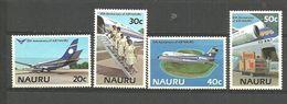 Nauru 1985 15 Years Airline, Airplane Boeing 737, Stewardesses, Airplane Fokker F.28 Fellowship Over N  Mi 302-5 MNH(**) - Nauru