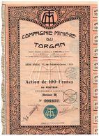 Titre Ancien - Compagnie Minière Du Torgan - Société Anonyme - Titre De 1929 - N° 005637 - Afrique