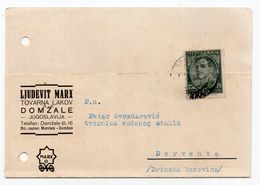 1932. YUGOSLAVIA,SLOVENIA,DOMZALE TO DERVENTA,CORRESPONDENCE CARD,LJUDEVIT MARX,DOMZALE - 1931-1941 Kingdom Of Yugoslavia