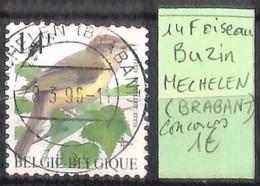 [846126]TB//O/Used-Belgique  - 14f, BUZIN, 'MECHELEN (BRABANT) Concours, Oiseaux, Animaux - 1985-.. Birds (Buzin)