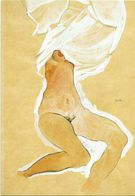 XW 2295 Egon Schiele - Nudo Seduto - Dipinto Paint Peinture / Non Viaggiata - Pittura & Quadri