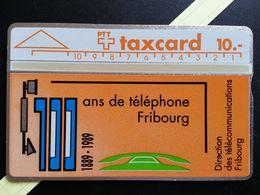 SUISSE 10u Taxcard 100 Ans De Téléphone Direction Télécommunications Fribourg 906C Neuve MINT (TS220 - Zwitserland