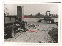 WW2 RARE PHOTO ORIGINALE 1940 Pont Ko à MONTJEAN SUR LOIRE Près Chalonnes Entre Ancenis & Angers MAINE ET LOIRE 49 N°1 - 1939-45