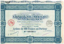 Titre Ancien - Compagnie Minière De La Ribeira - Société Anonyme - Titre De 1926 - - Afrique