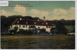 Gasthaus Auf Der St. Petersinsel - Hotel Restaurant De I'ile De St. Pierre - Stabstempel - BE Berne