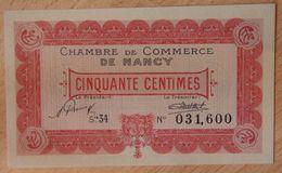 NANCY (54) 50 Centimes 1 Janvier 1922- Chambre De Commerce - Chamber Of Commerce