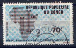 CONGO - A118° - RESEAU PANAFRICAIN DE TELECOMMUNICATIONS - Oblitérés