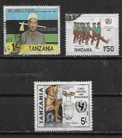 1984-6 Tanzania Revolucion-jovenes Soldados-niños ONU 3v. - Tansania (1964-...)