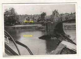 WW2 PHOTO ORIGINALE ALLEMANDE Pont Ko à CHALONNES SUR LOIRE Près Angers MAINE ET 1940 - 1939-45