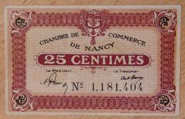 NANCY (54) 25 Centimes Non Daté Type Avec Grand N - Chambre De Commerce - Chamber Of Commerce