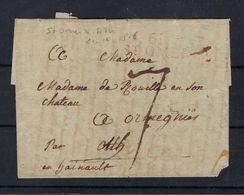 VOORLOPER 1816 VIA St.Omer (France) NAAR Ormegnies (Belgium) - 1801-1848: Precursors XIX