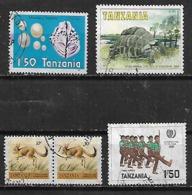 1981-5 Tanzania Fauna Tortuga-ostra De Perlas-jovenes Soldados 5v. - Tansania (1964-...)