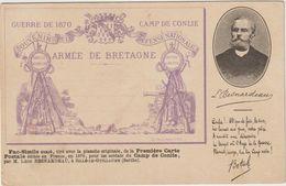 CPA   Guerre De 1870 Camp De Conlie Armee De Bretagne Rare - Bretagne