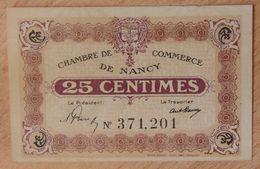 NANCY (54) 25 Centimes Non Daté  - Chambre De Commerce - Chamber Of Commerce