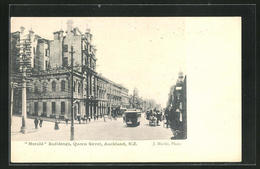 AK Auckland, Harald Buildings At Queen Street - New Zealand