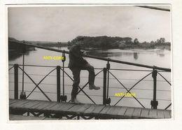 WW2 PHOTO Soldat Allemand Pont SAINT GEORGES SUR LOIRE ?? ANGERS MAINE ET LOIRE CHALONNES 49 - 1939-45