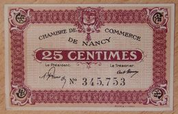 NANCY (54) 25 Centimes Non Daté Type Avec Petit N- Chambre De Commerce - Chamber Of Commerce
