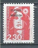 Saint-Pierre Et Miquelon YT N°518 Marianne Du Bicentenaire Oblitéré ° - Gebraucht