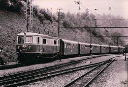 Österreichische Bundesbahnen, Reisezug Im Bf. Gösing., Elektrische Lokomotive (1161.77) - Gares - Avec Trains