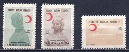 1954 TURKEY CENTENARY OF THE VISIT OF FLORENCE NIGHTINGALE MNH ** - 1921-... Republik