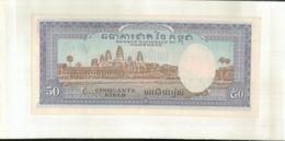 Billet  CAMBODGE 50 RIELS  Banque Ntionnale    1956 - 1975  (Mai 2020  017) - Cambodia
