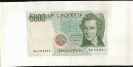 Billet  ITALIE 5000 LIRE  1985  (Mai 2020  017) - [ 2] 1946-… : République