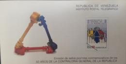 U) 1988, VENEZUELA, 50 YEARS OF THE CONTROLLER GENERAL OF THE REPUBLIC,  FDC - Venezuela