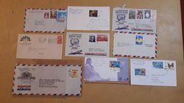 Costa Rica Lot D'enveloppes Distribuées Avec Des Timbres Modernes - Costa Rica