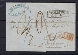 VOORLOPER 1857 VANUIT Stolberg (Germany) NAAR Huy (Belgium) - [1] ...-1849 Precursori