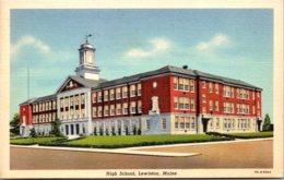 Maine Lewiston High School Curteich - Lewiston