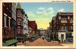 Maine Lewiston Lisbon Street 1945 Curteich - Lewiston