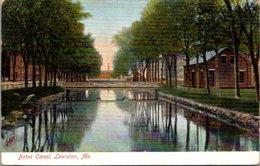 Maine Lewiston The Bates Canal - Lewiston