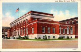 Maine Lewiston Post Office Curteich - Lewiston