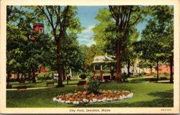 Maine Lewiston City Park 1943 Curteich - Lewiston