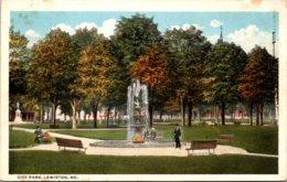 Maine Lewiston City Park Curteich - Lewiston