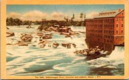 Maine Lewiston The Falls On The Androscoggin River Dexter Press - Lewiston