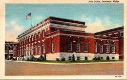 Maine Lewiston Post Office 1943 Curteich - Lewiston
